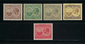Bermuda 1920-21 Sc#55-8,#67  George V-Seal of the Colony  MH $51.00 TWO SCANS