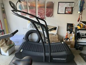 Used woodway curved treadmill