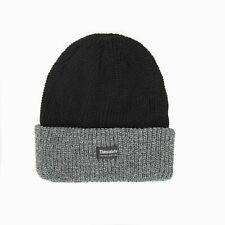 Men Black Grey Thinsulate Ski Plain Knit Thermal Insulation  Winter Warm Beanie