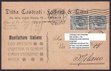 FIRENZE CITTÀ 153 DITTA CASTRATI FALLANI - CUOIO Cartolina COMMERCIALE viag 1923