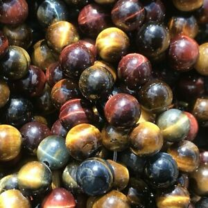 8mm Natural Mixed Tiger Eye