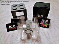 Neuf très belle montre mixte grise avec dateuse marque Ice Watch