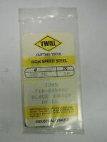 10 new TWILL Wire Gage Gauge #48 Jobber Length Twist Drills Bits, Black Oxide