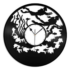 Diving Vinyl Wall Clock Sports Lovers Unique Gift Home Living Room Decoration