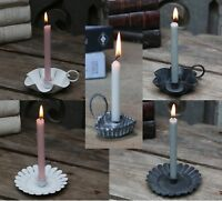 French Vintage Style Small Candle holder Antique White, Black, Zinc Heart Design