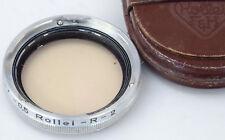 ROLLEI RI Rollei R - 2 (81A) + Case- Rolleiflex Filter Rolleicord -