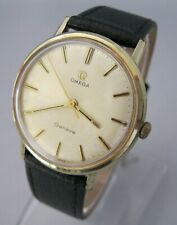 Vintage Omega Geneve, Manual Wind, Gold Plated & SS Adjusted Cal 601, 17 Jewels