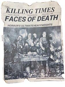 Michael Myers Jason Voorhees Leatherface Freddy News Print.