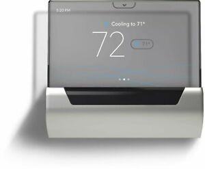 Johnson Controls - GLAS Smart Programmable Touch-Screen Wi-Fi Thermostat - Gray