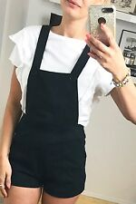NWOT Women's AMERICAN APPAREL Romper Overalls Shorts Black Sexy~ Size SMALL S