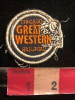 Vtg CHICAGO GREAT WESTERN RAILROAD Patch - Train Related 04Q6