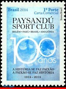 3266 BRAZIL 2014 CENT. PAYSANDU, FAMOUS CLUB, FOOTBALL SOCCER, C-3331, MNH