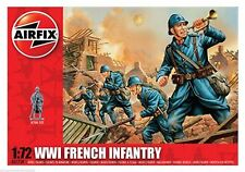 Unpainted Plastic French 1914-1945 Airfix Toy Soldiers