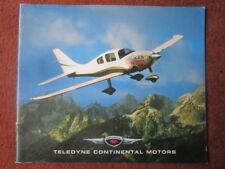 2003 BROCHURE PUB TELEDYNE CONTINENTAL MOTORS MOTEUR AVIATION AIRCRAFT ENGINE