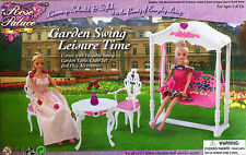 Gloria Barbie Doll House Furniture Rose Palace Garden Swing Leisure Time 2619