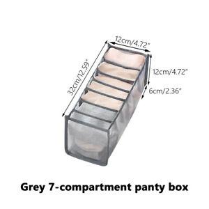 1/3Pcs Nylon Drawer Divider Closet Underwear Socks Bra Organizer Storage Box 64
