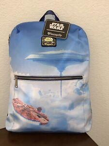 Loungefly Disney Star Wars Millennium Falcon Bespin Cloud City Backpack ESB NWT
