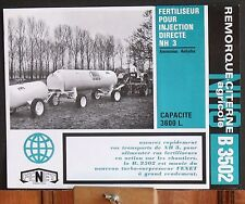 ▬►Prospectus Fertilisateur FENET B 3502 Tracteur Someca Massey IH