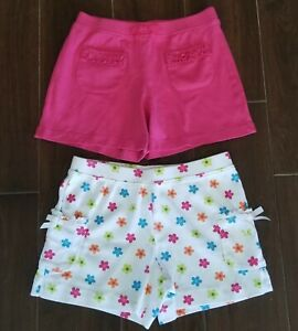 Lot of 2 Pair's Girl's GYMBOREE Casual Cotton Shorts size 9 Pink & Floral New