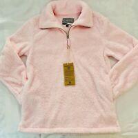 Islanders Comfy Sherpa Fleece 1/4 Zip Pink Pullover Jacket
