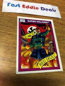 IMPEL MARKETING 1990 MARVEL COMICS SUPERHEROES THE RED SKULL CARD # 81 NEAR MINT