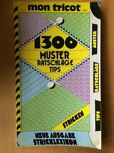 """mon tricot:  """"STRICKEN """" 1300 Muster, Ratschläge,Tipps, Stricken,Strickheft 1979"""