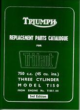 1969-70 Triumph Trident 750, T150, OEM, Parts Manual & 1970 Supplement  Unissued