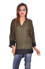 Indian Rayon Pashmina Top Women Ethnic Tunic Kurti Plus Size 14W Tops Amz