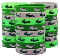 Crocodile Party Silicone Wristbands - Great Alligator Party Supplies Pack of 24!