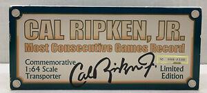 1:64 Scale Cal Ripken Limited Edition Transporter Commemorative Truck Super Rare