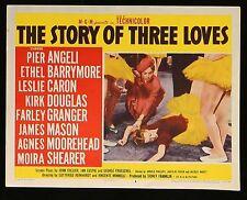 THE STORY OF THREE LOVES Leslie Caron ORIGINAL 1958  MOVIE LOBBY CARD