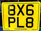 8X6 Reflective Blank Novelty Motorcycle Motorbike Show Number Plate