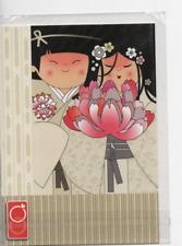 CARTE NEUVE-MARIAGE- faire-part ou autres-Style Japonais-12 X 16,5 cm-