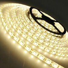 5m 10m 20m 12V 24V SMD 5050 LED Stripe Streifen Band Leiste Licht warmweiss IP20