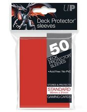 Ultra Pro Lava Red 50 Count Pack Standard Size Gaming Deck Protector Sleeves