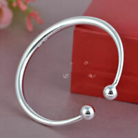Fashion 925 Sterling Silver Bangle Bracelet Charm Ladies Womens Jewellery Gift