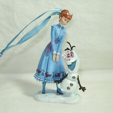 "Disney Store Sketchbook Ornament Anna and Olaf Frozen LE 2600  3 3/4"" High"