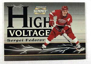 1996-97 Pinnacle Summit Sergei Fedorov High Voltage - Detroit Red Wings #521/600