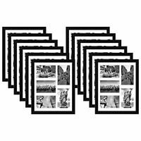 Americanflat Collage Picture Frame Black 11 x 14 Displays Five 4 x 6 Photos