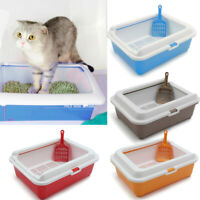 Rabbit Cat Scoopless Litter Tray Large Jumbo Sifting Toilet Box High Sided ❤