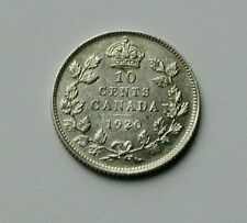 1920 CANADA George V Silver Coin - 10 Cents - toned-lustre