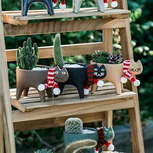 Cat Ceramic Flower Pots Succulent Cactus Garden Plant Outdoor Indoor Home Decor