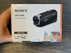 Sony HDR-CX440 Handycam Black Full HD 1080 8 GB Internal Memory