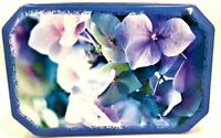 Blue Lavender Flowers Collectible Tin Delacre Belgian Chocolate Container France