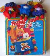 VINTAGE 1983 Rainbow Brite COLOR POCKETS BED & 3 HATFUL SPRITE Romeo,Hammy,Champ