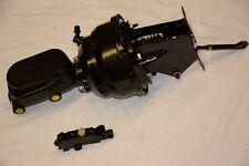 "1974-86 Jeep CJ 8"" Dual Power Brake Booster Master Cylinder Bracket & Valve Kit"