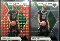 2019-20 Panini Mosaic NBA Debut Tacko Fall RC Red Prizm + Base Rookie Celtics