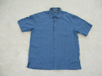 REI Button Up Shirt Adult Medium Blue Outdoors Camp Casual Mens
