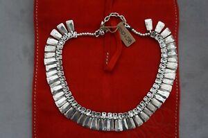 NEW Uno De 50 Silver Grey Elements Crystal STUDIO 54 Cleopatra Necklace RP $715