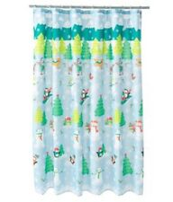 "NWT St. Nicholas Square ""Oh What Fun"" Fabric Shower Curtain"